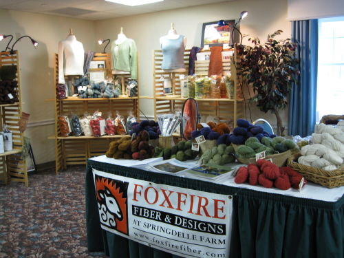 Foxfire, knitters review retreat