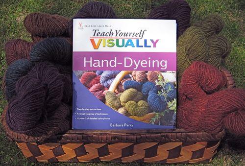 Hand dye book w:yarn