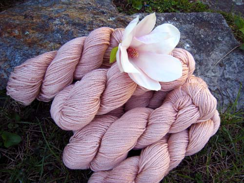 Magnolia.blossom.foxfire fiber yarn