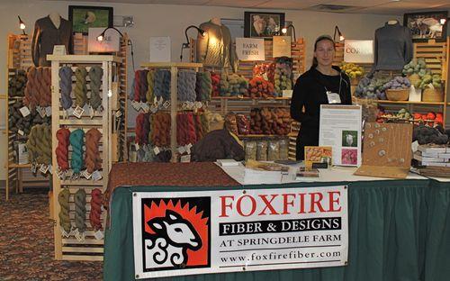 Foxfire fiber booth knitters review retreat 2009