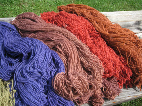 Upland wool alpaca colors aug 2010