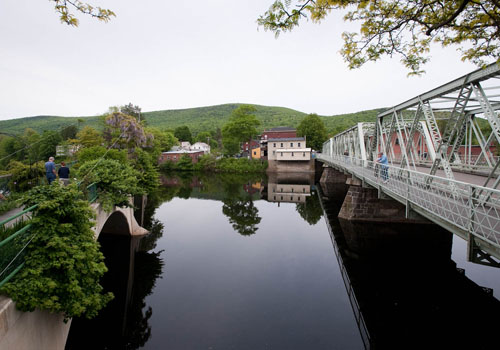 Iron Bridge.Bridge of Flowers. Shelburne Falls. Ben Barnhart