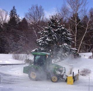 Spring Snow blow. Foxfire Fiber